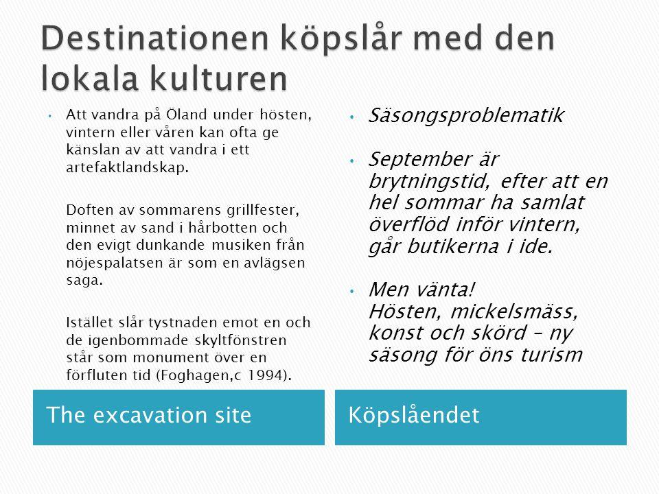The excavation siteKöpslåendet Att vandra på Öland under hösten, vintern eller våren kan ofta ge känslan av att vandra i ett artefaktlandskap. Doften