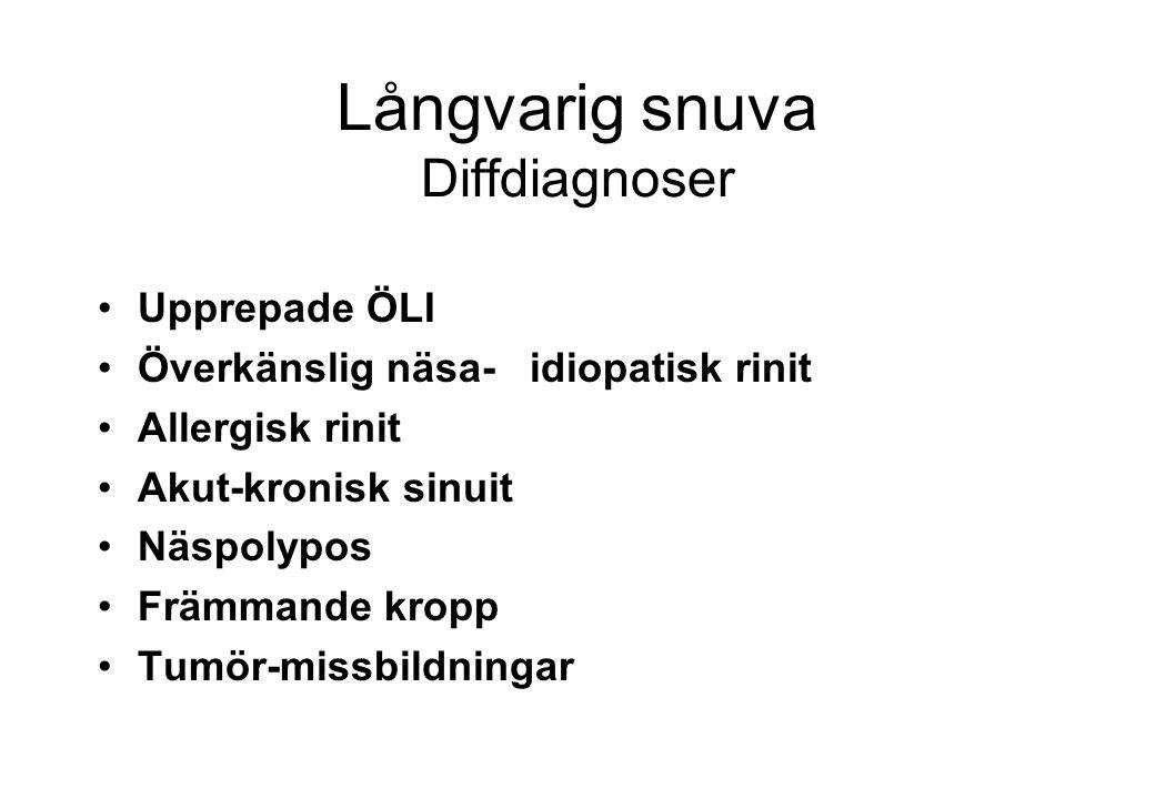 Akut sinuit Etiologi och predisp.
