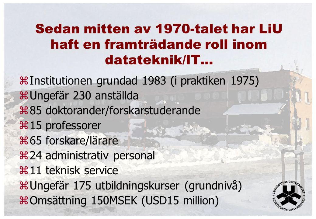 Sedan mitten av 1970-talet har LiU haft en framträdande roll inom datateknik/IT...