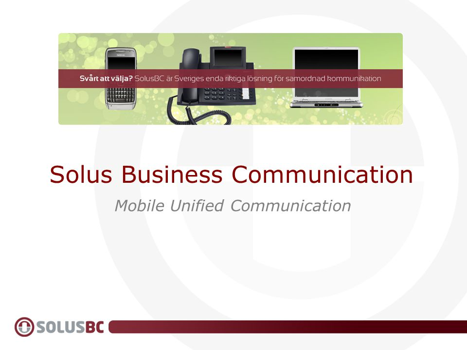 Solus Business Communication Mobile Unified Communication