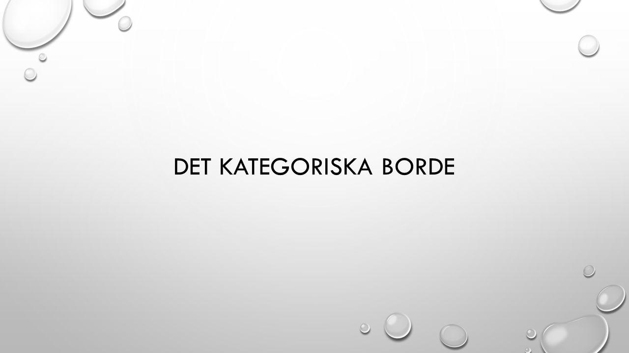 DET KATEGORISKA BORDE