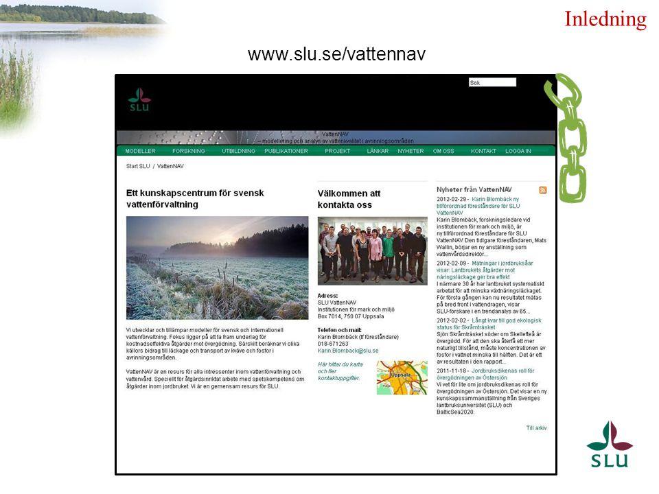 www.slu.se/vattennav Inledning