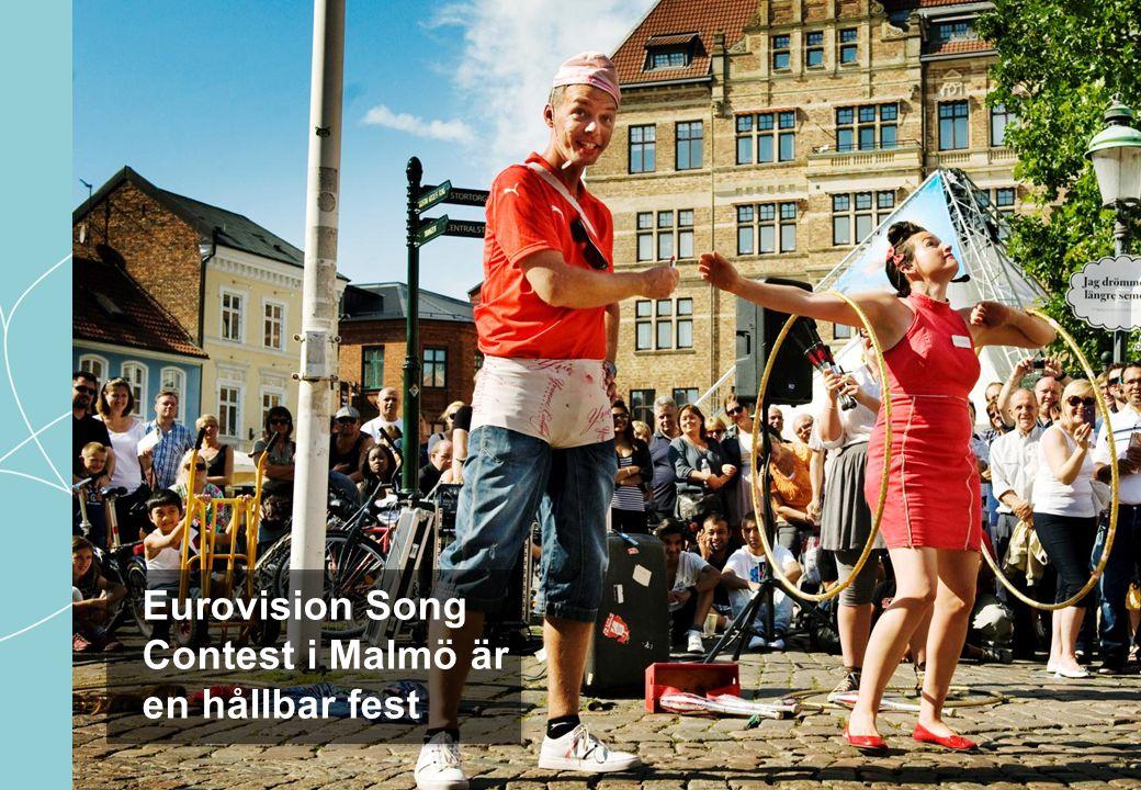 Eurovision Song Contest i Malmö är en hållbar fest.