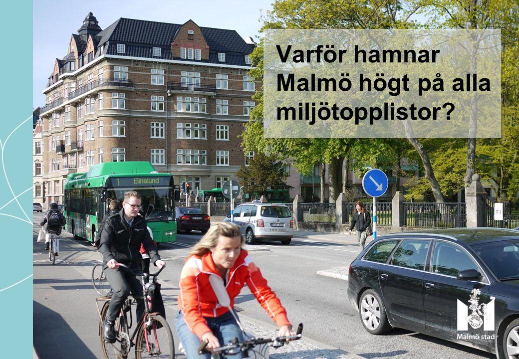 Varför hamnar Malmö högt på alla miljötopplistor