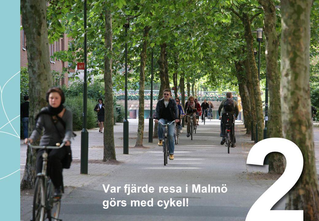 Var fjärde resa i Malmö görs med cykel! 22