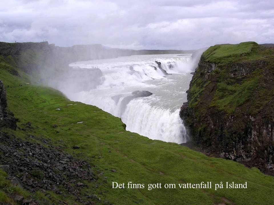 Det finns gott om vattenfall på Island
