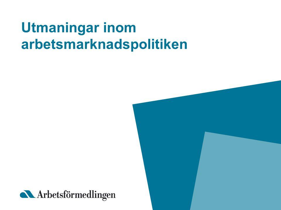 Utmaningar inom arbetsmarknadspolitiken