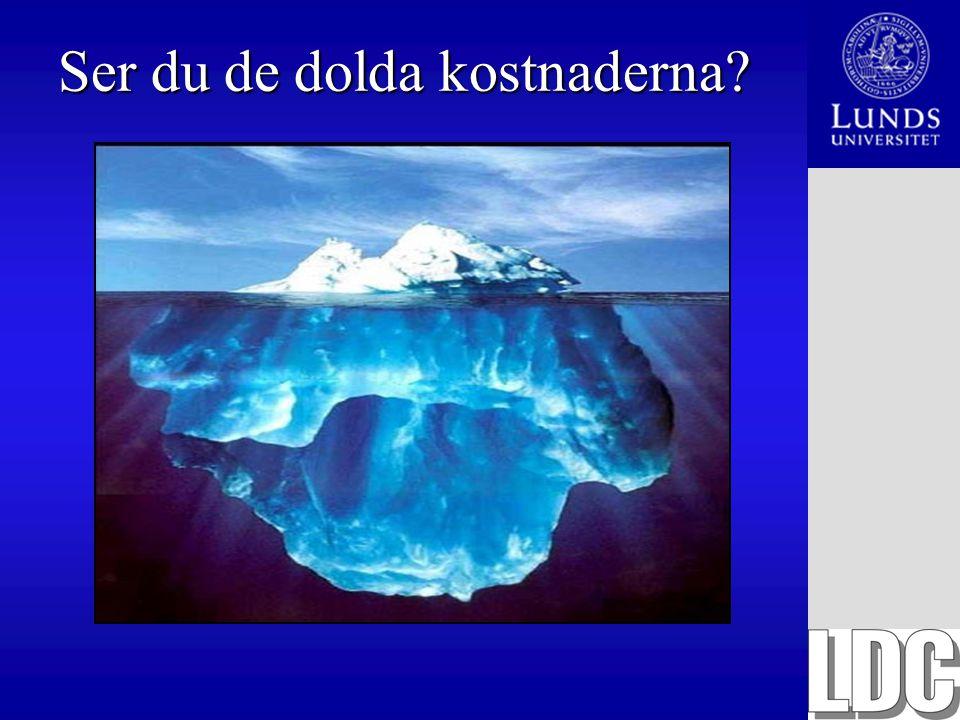 TCO-modellen från Gartner KostnaderFörklaring Direkta kostnader Hårdvara och mjukvara Kapitalkostnaden för servrar, arbetsstationer och licenser.