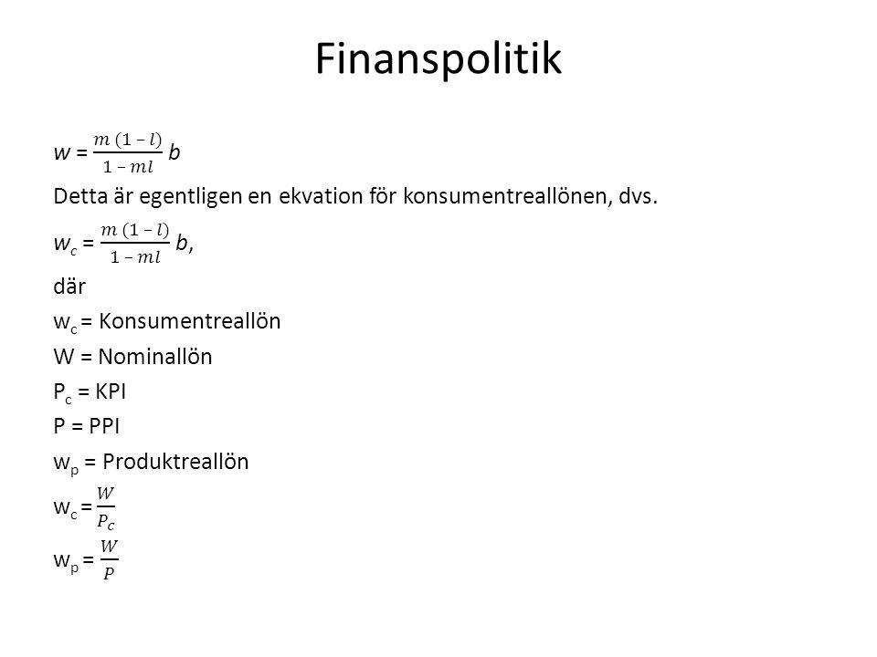 Finanspolitik, forts.