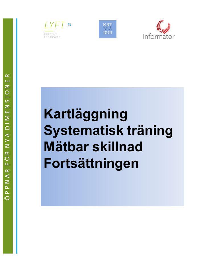Ö P P N A R F Ö R N Y A D I M E N S I O N E R Kartläggning Systematisk träning Mätbar skillnad Fortsättningen