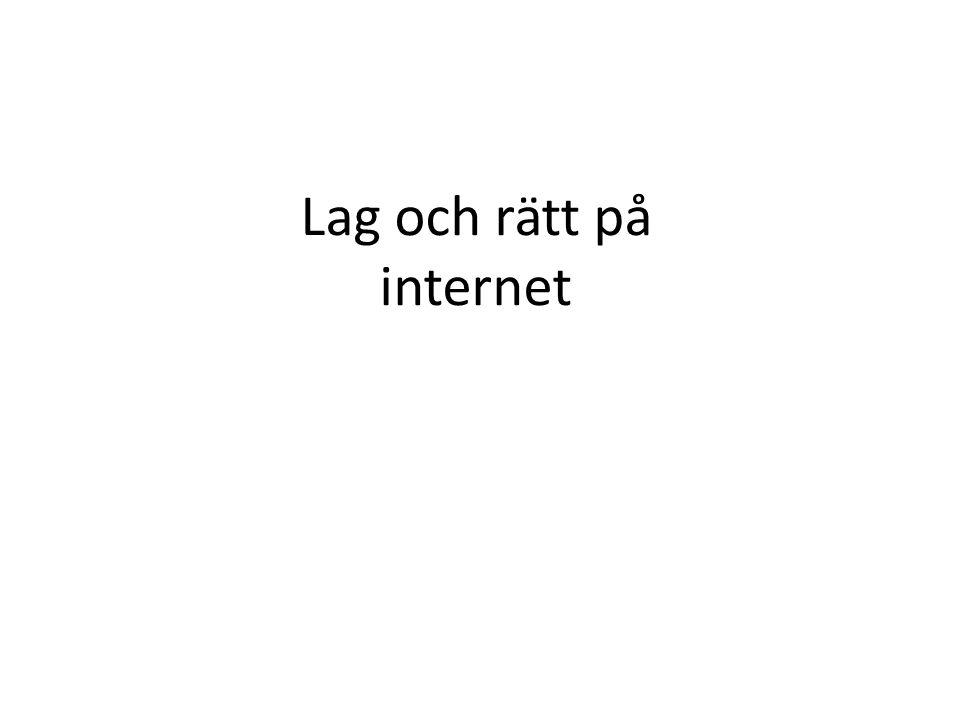 Lag och rätt på internet