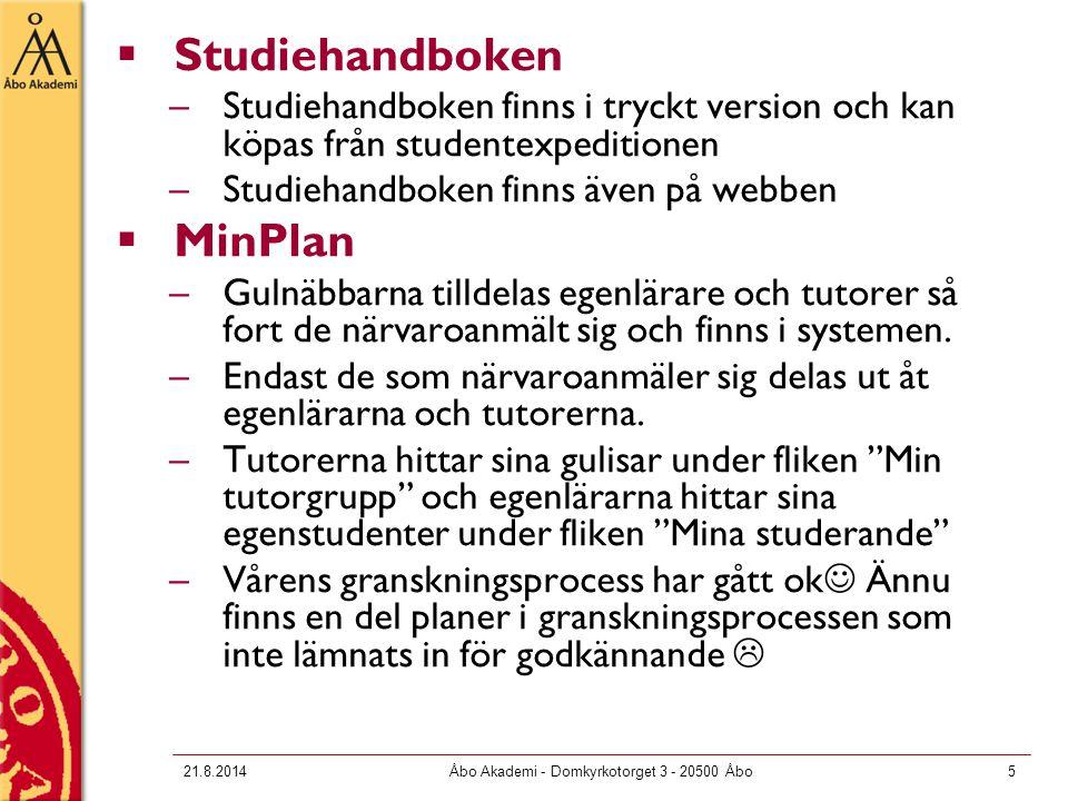 Manualer för MinPlan, bl.a.