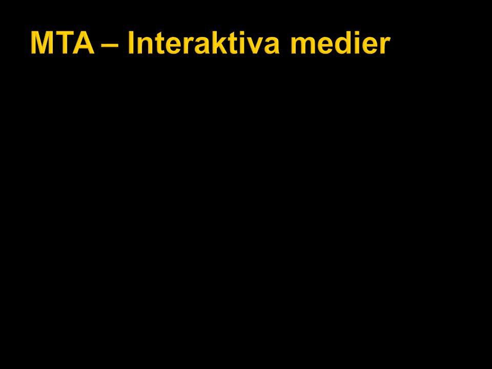 MTA – Interaktiva medier