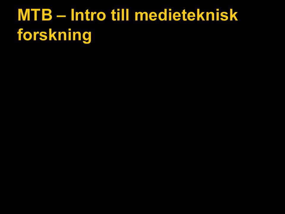 MTB – Ljud och rörlig bild