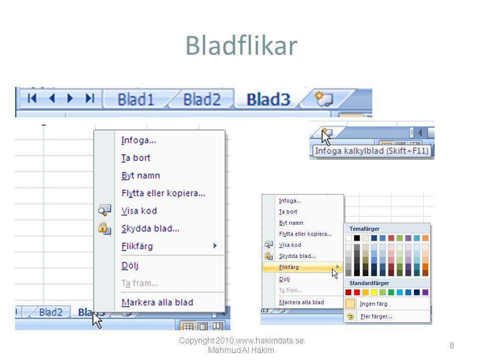 Bladflikar Copyright 2010,www.hakimdata.se Mahmud Al Hakim 8