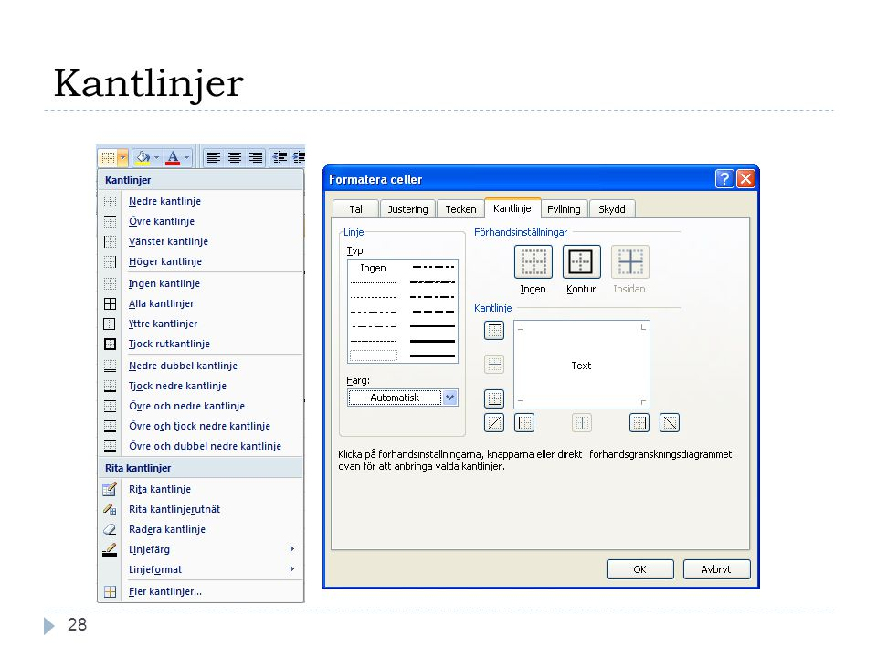 Kantlinjer 28Copyright, www.hakimdata.se, Mahmud Al Hakim, mahmud@hakimdata.se, 2008