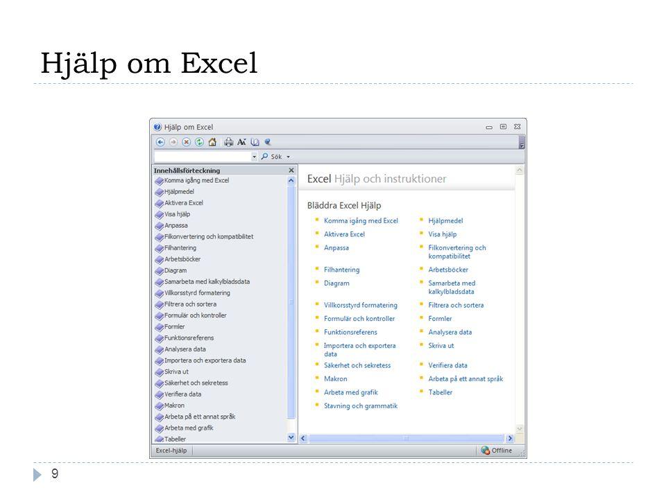 Hjälp om Excel 9