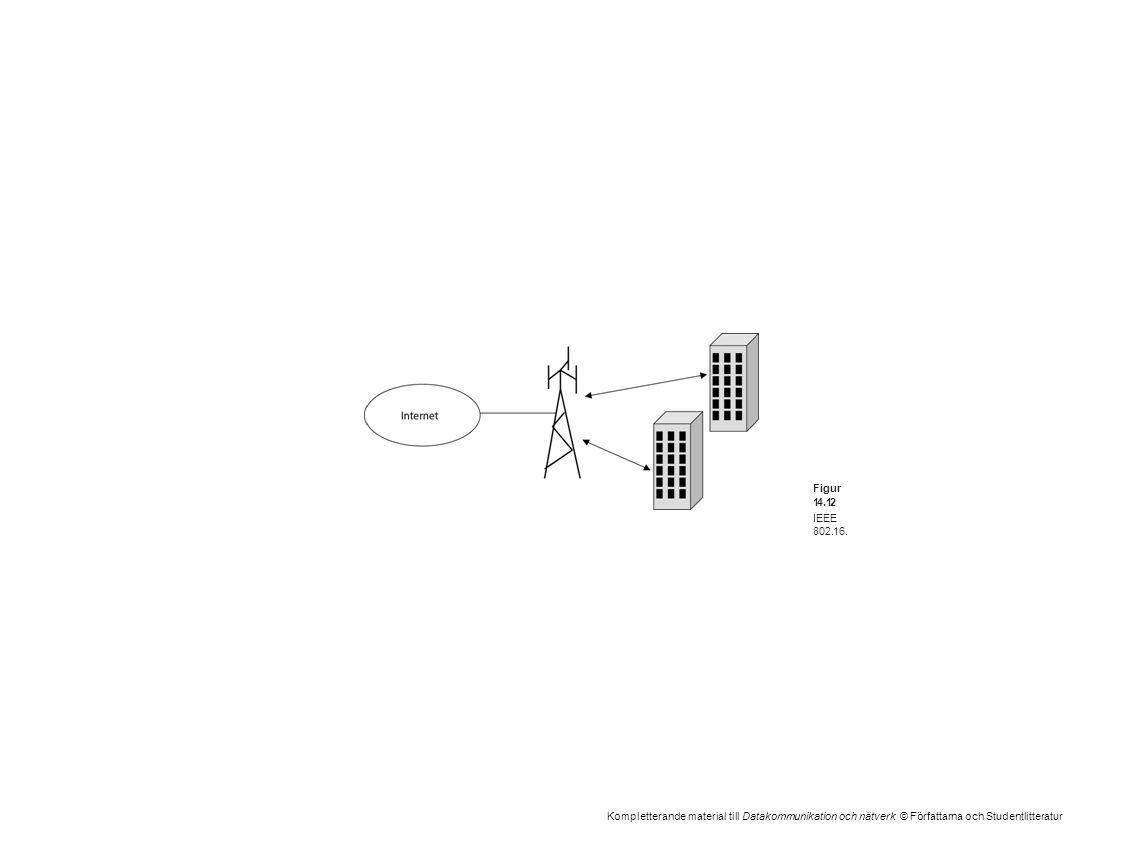 Kompletterande material till Datakommunikation och nätverk © Författarna och Studentlitteratur Figur 14.12 IEEE 802.16.