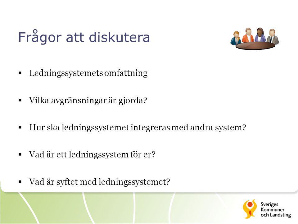 Frågor att diskutera  Ledningssystemets omfattning  Vilka avgränsningar är gjorda?  Hur ska ledningssystemet integreras med andra system?  Vad är