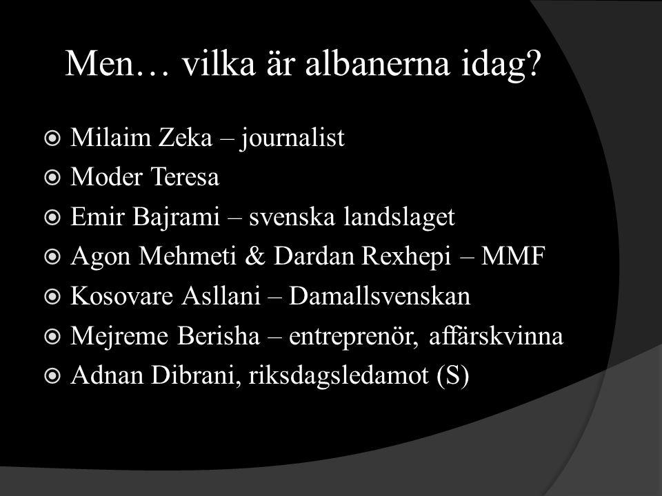 Men… vilka är albanerna idag.