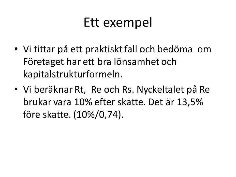 Investerings bedömning: Diskonteringsteknik - Nuvärde Tidsvärde av pengar: 1 kr idag värde mer än 1 kr imorgon.