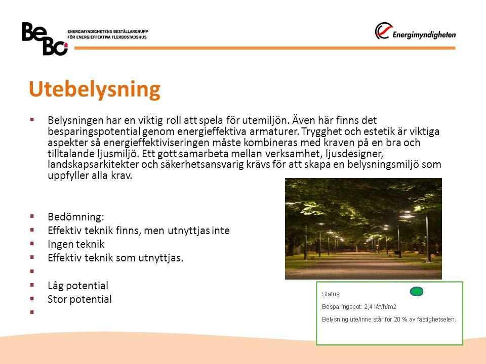 Utebelysning  Belysningen har en viktig roll att spela för utemiljön.