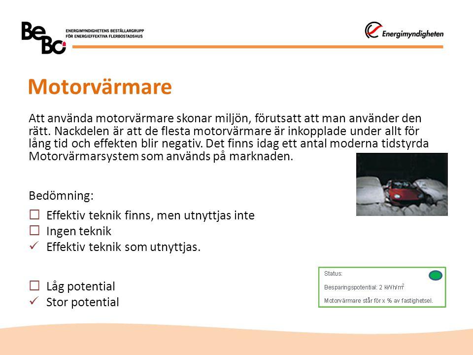 Motorvärmare Att använda motorvärmare skonar miljön, förutsatt att man använder den rätt.