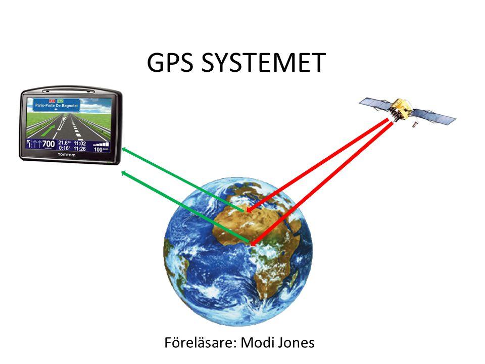 GPS SYSTEMET Föreläsare: Modi Jones