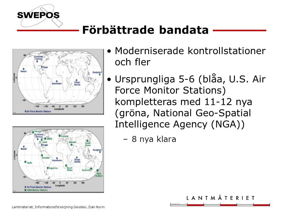 Lantmäteriet, Informationsförsörjning Geodesi, Dan Norin Moderniserade kontrollstationer och fler Ursprungliga 5-6 (blåa, U.S.