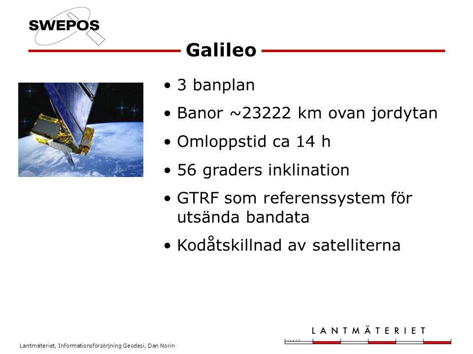 Lantmäteriet, Informationsförsörjning Geodesi, Dan Norin 1 Block IIA-satelliten PRN32 har sänt för utvärderingsändamål –Tidigare PRN23 GPS-satelliter genom tiderna BlockÅrAntalAntal i drift I1978-1985110 II1989-199090 IIA1990-19971915 (+1 1 ) IIR1997-20041312 IIR-M2005-33 Summa1978-5530 (+1 1 )
