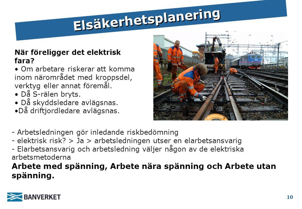 BVF 1921 Kap 6.1.3 Elsäkerhetsplanering 10 - Arbetsledningen gör inledande riskbedömning - elektrisk risk.