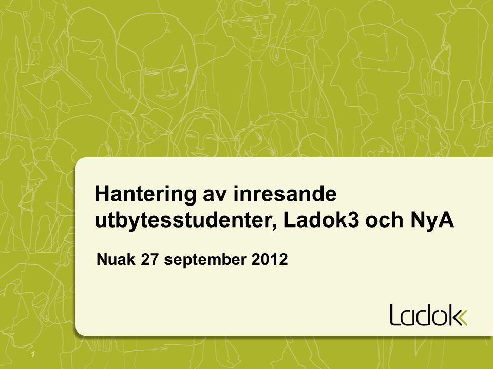 2 Ladok3 - remiss PM Införande av Ladok3 -Remitterat till samtliga konsortiemedlemmar och övriga utpekade mottagare.