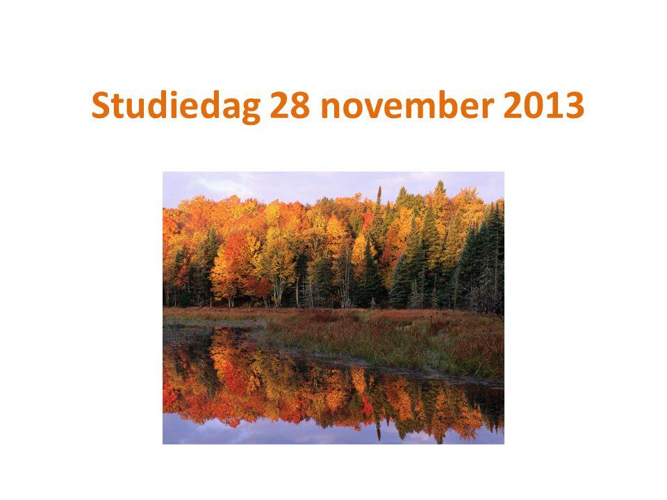 Studiedag 28 november 2013