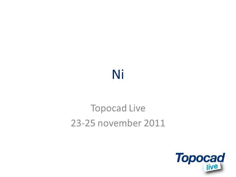 Ni Topocad Live 23-25 november 2011