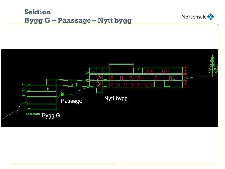 Sektion Bygg G – Paassage – Nytt bygg Bygg G Passage Nytt bygg