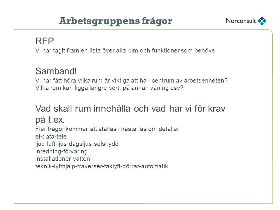 Vad är viktiga steg att ta nu.RFP Projektets omfattning Samband.
