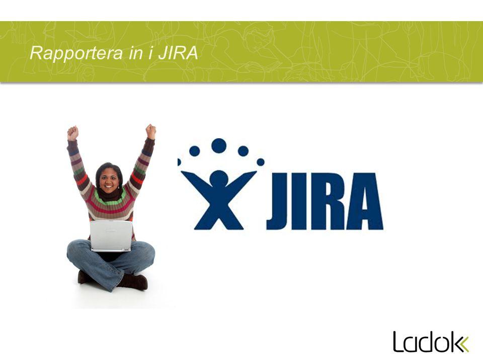 Rapportera in i JIRA