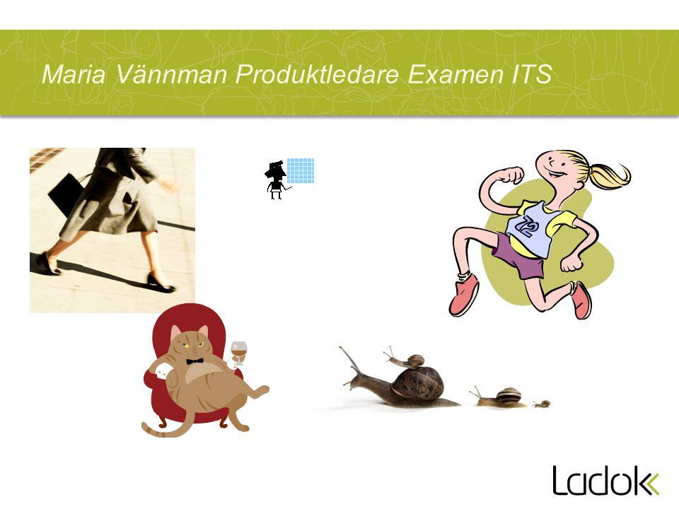 Maria Vännman Produktledare Examen ITS