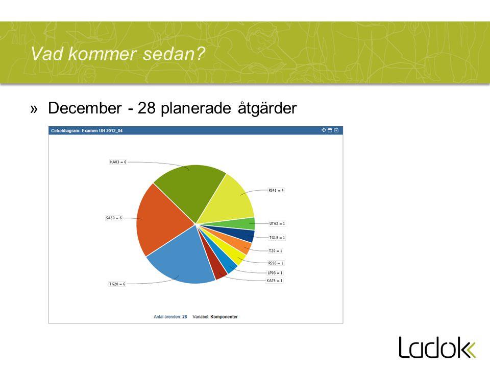 Vad kommer sedan »December - 28 planerade åtgärder
