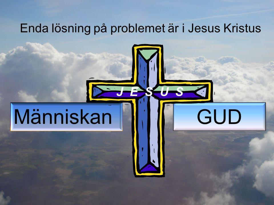 Enda lösning på problemet är i Jesus Kristus Människan GUD J E S U S