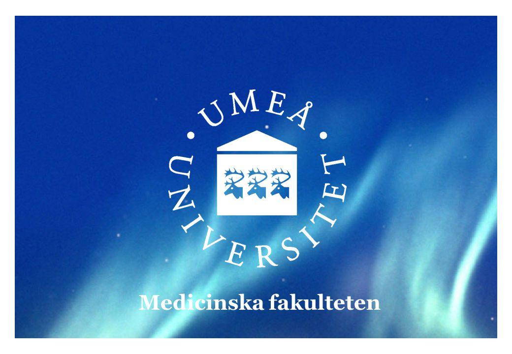 Regelverk (1) Medicinska fakulteten   www.medfak.umu.se Verksamheten vid Sveriges universitet och högskolor styrs bland annat av: Högskolelagen (1992:1434) http://www.riksdagen.se/webbnav/index.aspx?nid=3911&bet=1992:1434 Högskoleförordningen (1993:100) http://www.riksdagen.se/webbnav/index.aspx?nid=3911&bet=1993:100 Förvaltningslagen (1986:22) http://www.riksdagen.se/webbnav/index.aspx?nid=3911&bet=1986:223