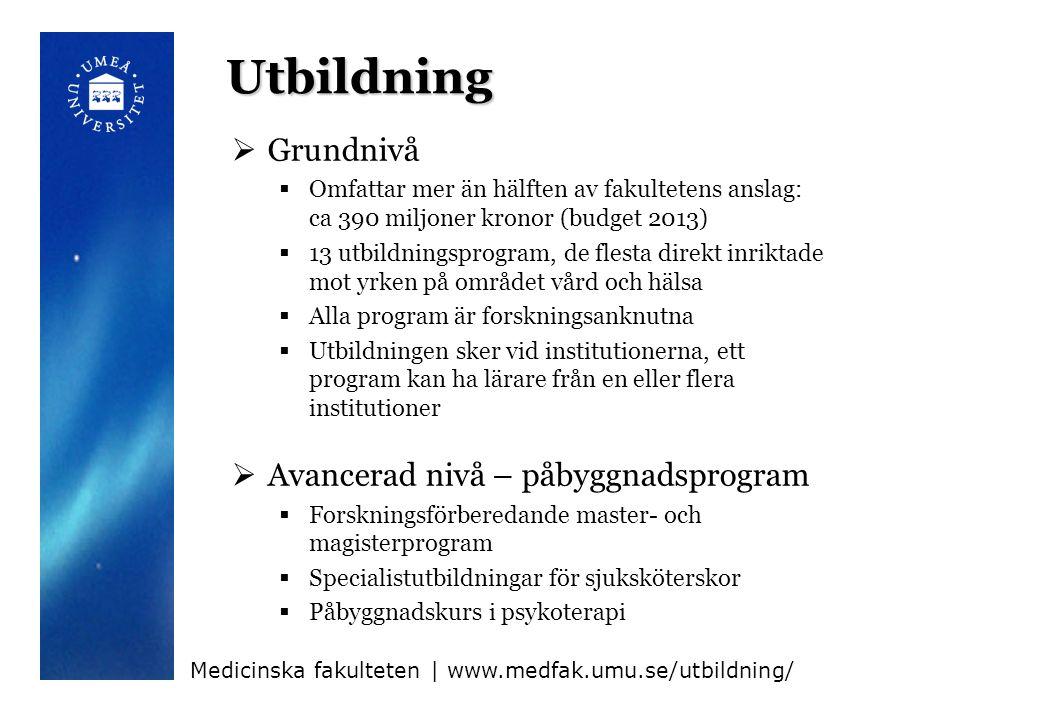 Utbildningsprogram medicin  Biomedicinprogrammet inkl.