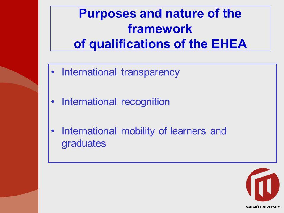 Ny struktur för utbildning och examina Utgångspunkter:  Öka rörligheten nationellt och internationellt  Öka tydligheten och jämförbarheten  Öka kvaliteten i utbildningarna  Värna friheten och flexibiliteten i systemet  Värna möjligheterna till livslångt lärande