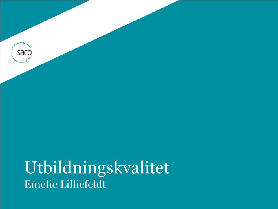 Utbildningskvalitet Emelie Lilliefeldt