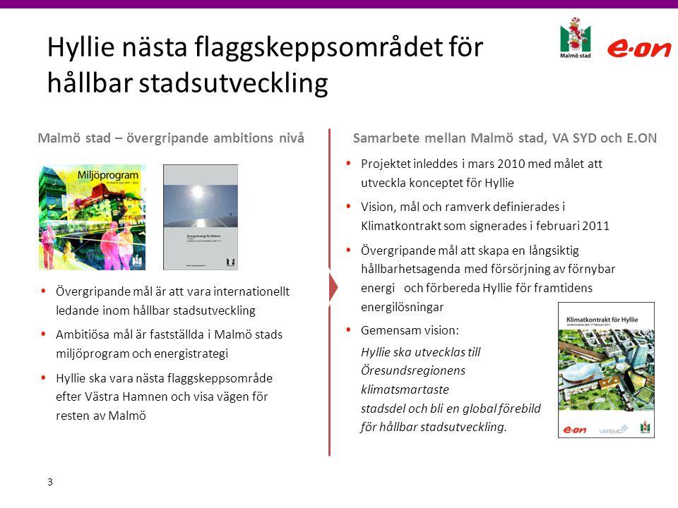 Hyllie nästa flaggskeppsområdet för hållbar stadsutveckling 3 Malmö stad – övergripande ambitions nivå  Övergripande mål är att vara internationellt