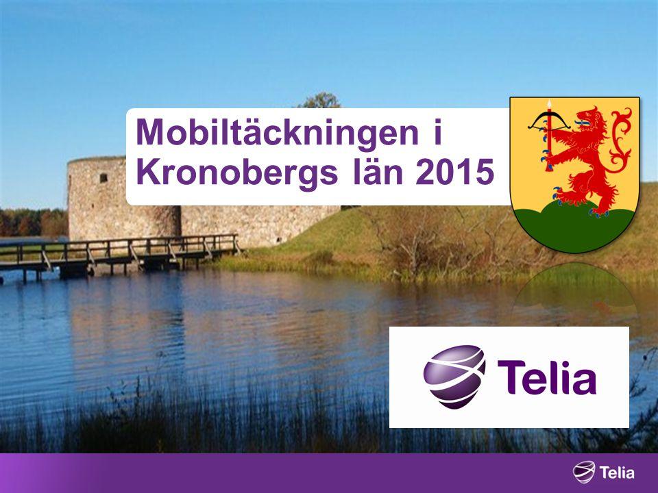 Mobiltäckningen i Kronobergs län 2015