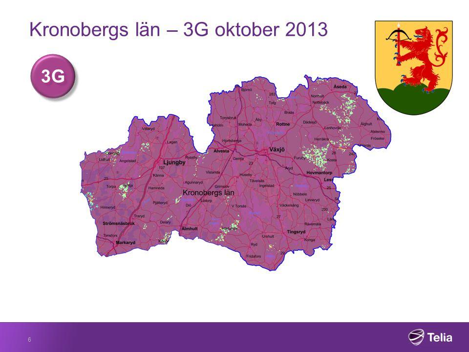 Kronobergs län – 3G slutet av 2014 7 3G