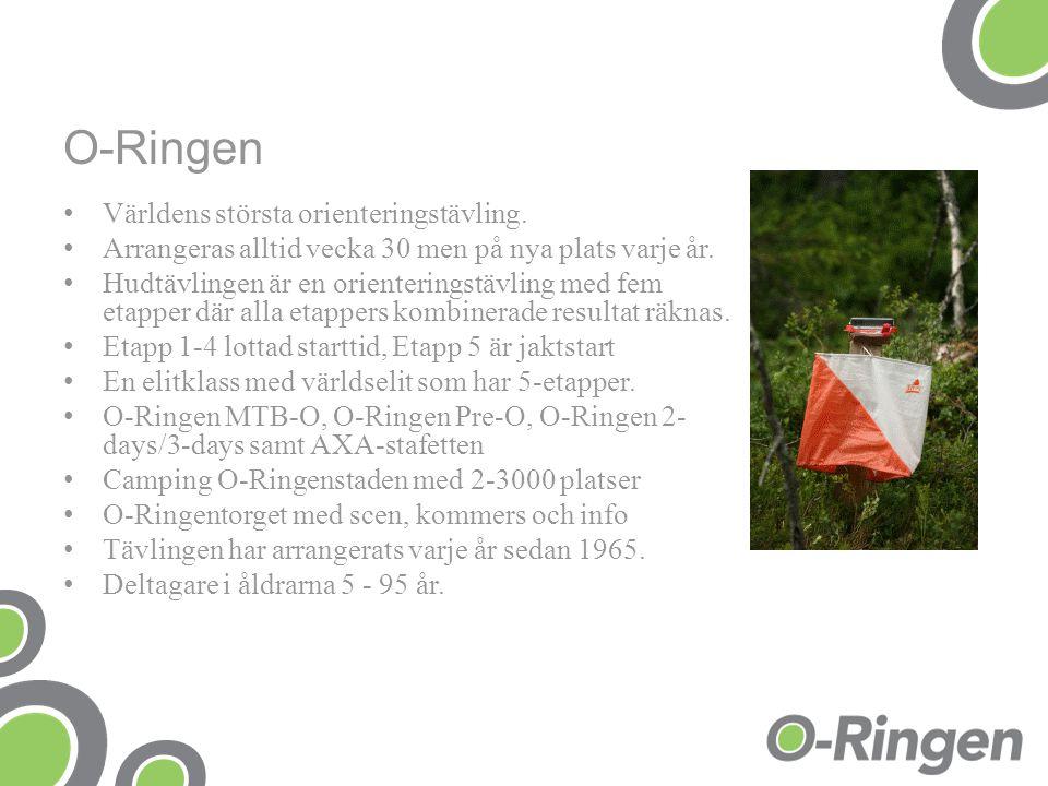O-Ringen Världens största orienteringstävling.