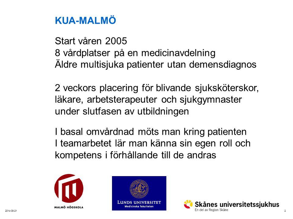 Teamroterande schema på KUA-Malmö Vecka 1 TeamFreLörSönMånTisOnsTorsFre 1*) CA-CA-CA 2*)CA-CA-C 3 -CA-CA- Vecka 2 TeamLörSönMånTisOnsTorsFre 1A--CAC + S- 2-CCA-SA 3CAA-CA + S Tur Tid A06.45-cirka 15.00 C13.30-cirka 21.00 S = teampresentation 14.15-16.00 *) Introduktion14.30-16.15 ca Introduktion Team och yrkesspecifik Tjänstgöring börjar en fredag em Avslutning Team och yrkesspecifik torsdag v2