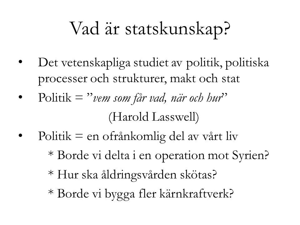 Vad är statskunskap.